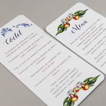 minuta de coctel boda. minuta de menu boda. minuta para restaurante. minuta modelo Valencia