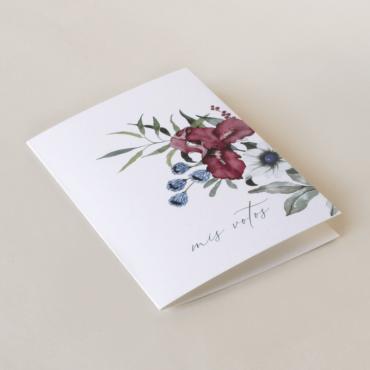 Tarjeta de vostos matrimoniales de la colección Lombardía