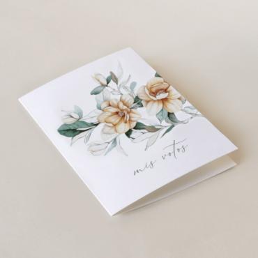 Tarjeta de vostos matrimoniales de la colección Alejandría