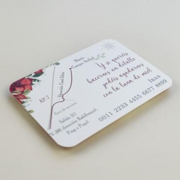 mapa para invitacion de boda. mapa lugar de banquete. mapa con informacion de numero de cuenta. Mod. Borgona