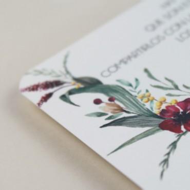 detalle tarjeta informativa para invitación Niza. tarjeta con el numero de cuenta. lista de boda