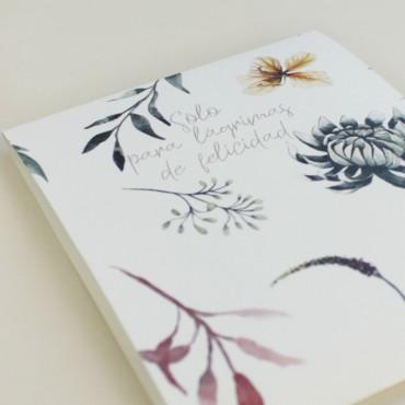detalle paquete de pañuelos para lágrimas de felicidad. Detalle para bodas silvestres. elaborado con papel texturizado 90gr