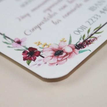 tarjeta informativa para invitación Verona. tarjeta con el numero de cuenta. lista de boda