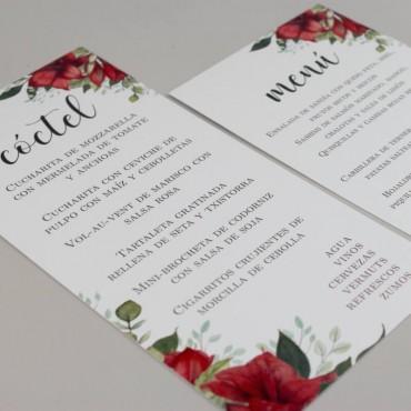 minuta de menu y minuta de coctel. Minuta para restaurante y minuta para boda. borgona