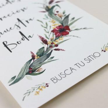 Cartel de Bienvenida para bodas. Bienvenido a nuestra boda. Cartel mesa dulce. Cartel de eventos Niza