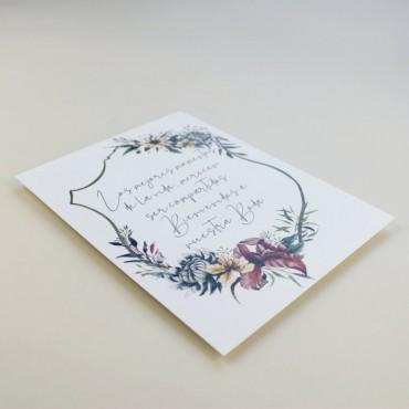 Cartel de Bienvenida para bodas. Bienvenido a nuestra boda. Cartel mesa dulce Valparaiso. Cartel de eventos