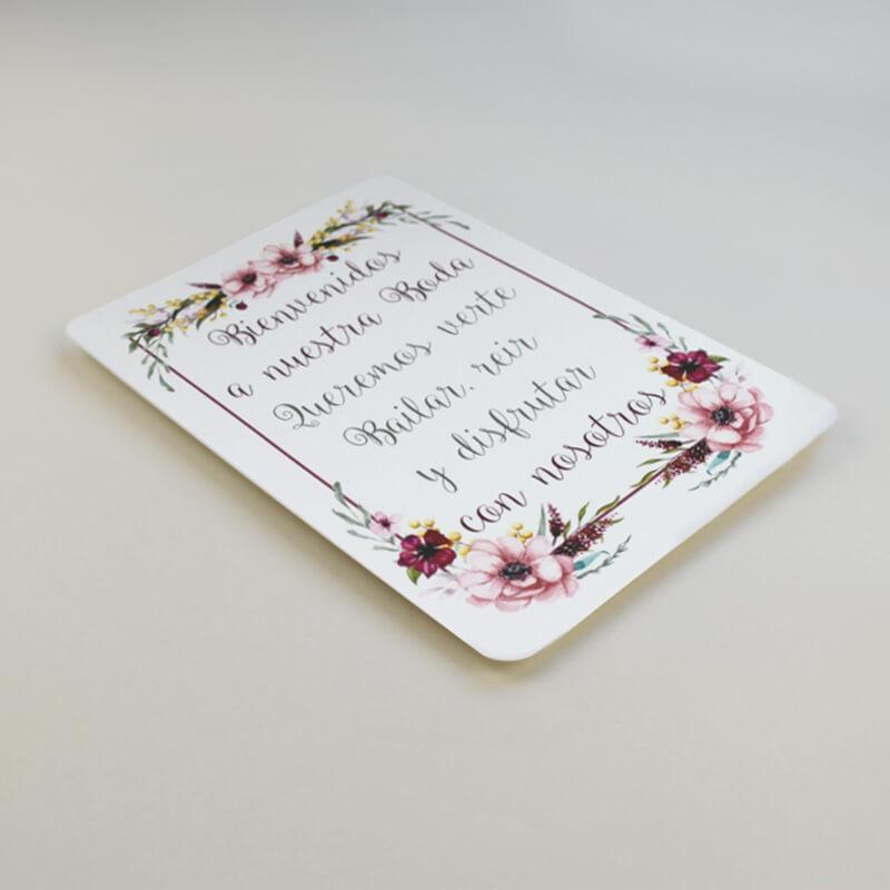 Cartel Bienvenida para bodas. Cartel comunion. Cartel bautizo. Bienvenido a nuestra boda. Cartel mesa dulce Verona