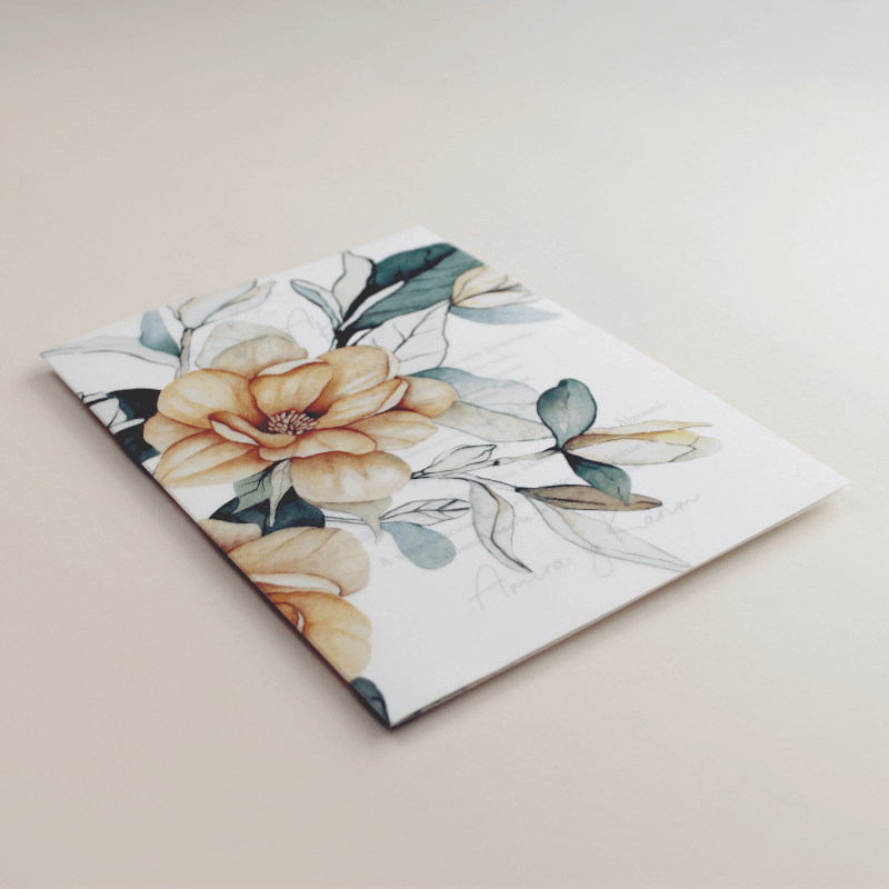 Envoltura de invitación con papel vegetal. Veladura de papel vegetal para invitación de boda Alejandria VI