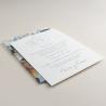 Invitación de boda original. Mod Alejandría VI con veladura de papel vegetal