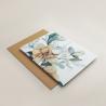 Envoltura de invitación con papel vegetal. Veladura de papel vegetal para invitación de boda Alej VI. Sobre ocre