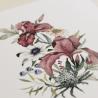 detalle invitacion de boda original. invitacion con flores de acuarela. Modelo Lombardía I