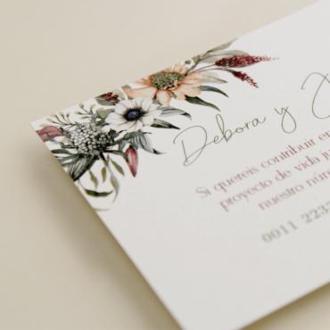 tarjeta informativa para invitación Lombardía. tarjeta con el numero de cuenta. lista de boda