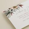 detalle flores de acuarela de tarjeta informativa para invitación Lombardía. tarjeta con el numero de cuenta. lista de boda