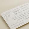 detalle tarjeta informativa para invitación Damasco. tarjeta con el numero de cuenta. lista de boda