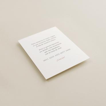 cara B. tarjeta informativa para invitación Praga. tarjeta con el numero de cuenta. lista de boda