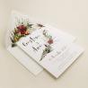 invitacion para bodas silvestres. invitacion con sobre forrado blanco. veladura de papel vegetal para invitacion . Niza