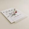 invitacion para bodas silvestres. invitacion con papel vegetal invitacion con veladura de papel vegetal.  modelo Niza