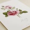 detalle invitacion de boda con flores de acuarela de rosas. modelo Estambul I