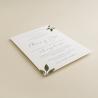 Invitacion de boda original con hojas de acuarela. mod est II