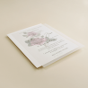 invitacion de boda con veladura de papel vegetal. invitacion de papel vegetal. invitacion de boda Estambull III