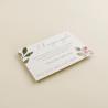 cara A tarjeta informativa Estambull. tarjeta numero de cuenta para invitación. tarjeta para lista de boda