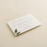cara B tarjeta informativa Estambull. tarjeta numero de cuenta para invitación. tarjeta para lista de boda