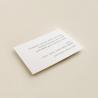 tarjeta informativa de invitación de boda. cara A. Modelo Ámsterdam