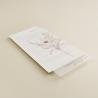 minuta de boda praga II en papel textura suave y agradecimiento de boda con veladura en papel vegetal