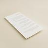 Minuta de boda Praga II en papel texturizado blanco de 250gr