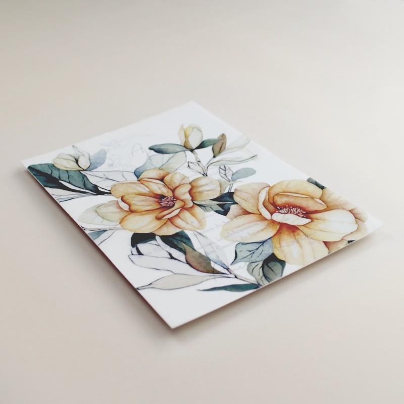 Invitación de boda con veladura de papel vegetal