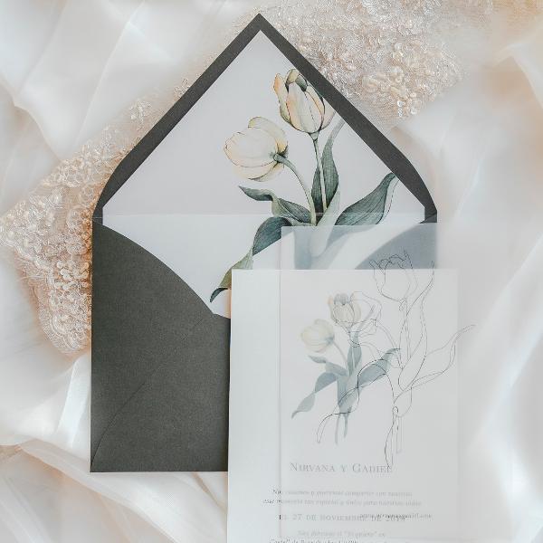 invitaciones de boda originales. de estilo floral, clásico y minimalistas