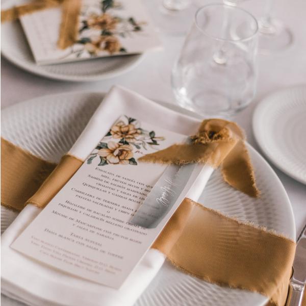 minutas de boda de inspiración floral