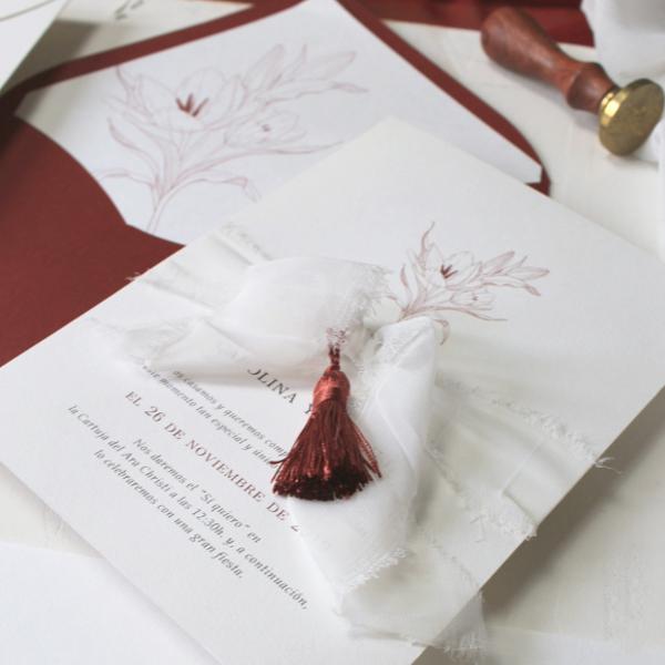 Detalles para invitaciones de boda
